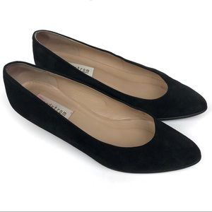 ca85f64fa0e50 Nordstrom Black Suede Flats Made in Italy Size 10